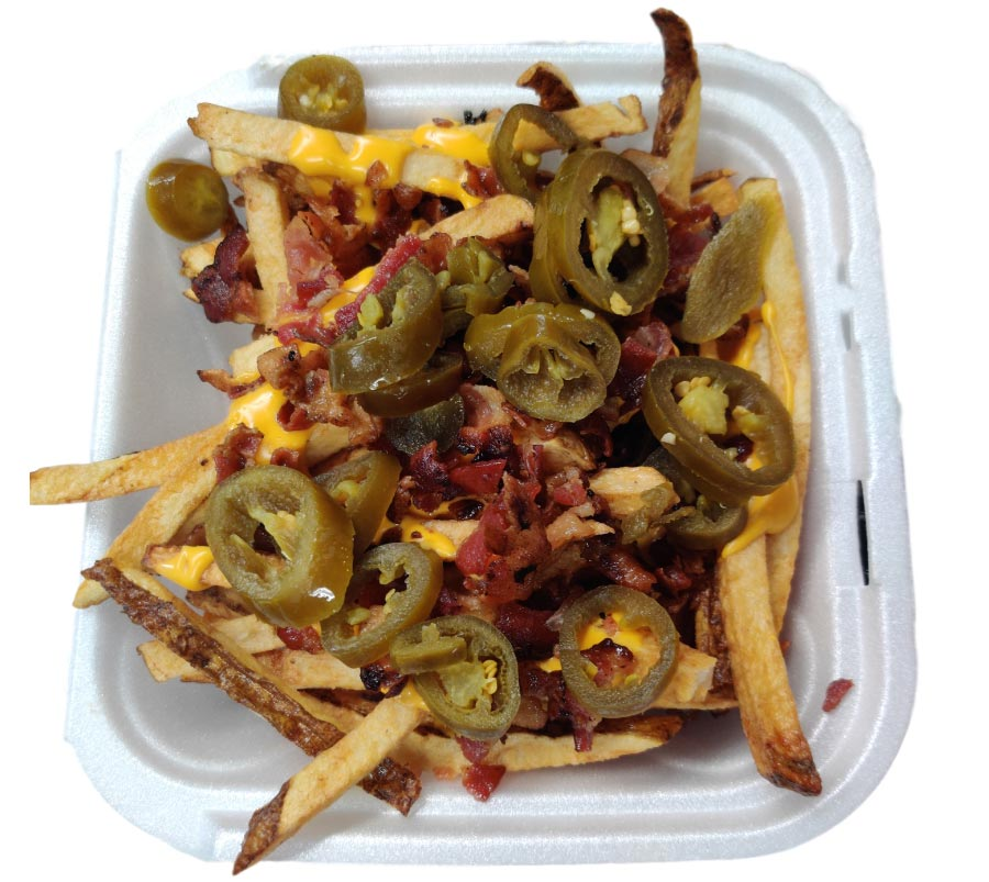 Real Fresh Cut Loaded Fries Authentic Chicago Hot Dog Pizza Puffs  (The Original Puff) Italian Style Pizza Thin or Deep Dish Pizza Beef Burgers and Fresh Cut Fries Hudson Beach Florida